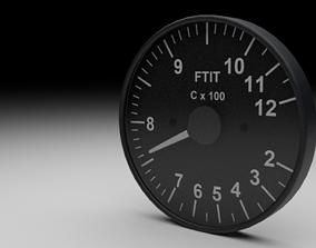 F16 Fan Turbine Inlet Temperature Gauge 3D