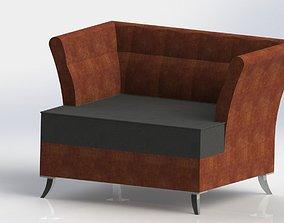 armchair upholstery 3D