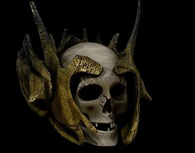 realtime Skull Helmet Low High Poly Models PBR Game Ready