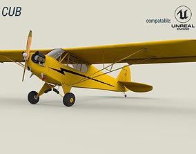 3D model realtime Piper Cub