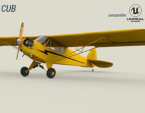 3D model Piper Cub