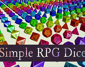 Simple RPG Dice 3D asset