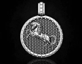 3D printable model Pretty horse pendant