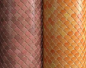 3D Materials 17- Fish scale tiles PBR