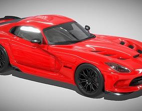 Dodge Viper SRT 3d model low-poly
