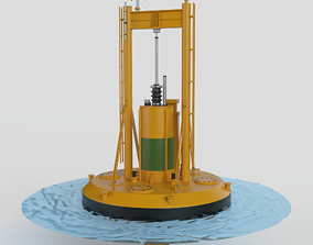 Wave Power Station 3D