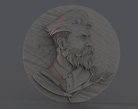 Barber Shop Logo 3D printable model