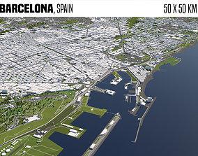 3D model Barcelona Spain