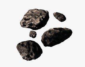 3D asset Asteroid pack