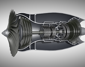 3D Aircraft Engine Turbine