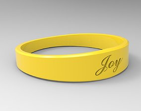Joy Female Ring Yellow 3D printable model yellow