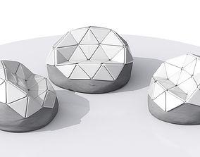 3D model Futuristic Armchair