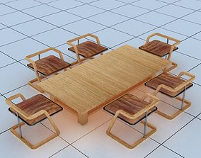 3D model realtime Seating Dinning Table Updated