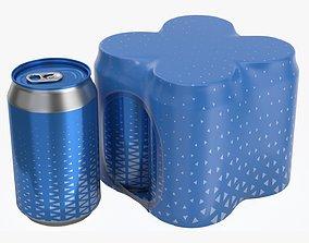 Packaging for 330ml four standard beverage soda 3D model 1