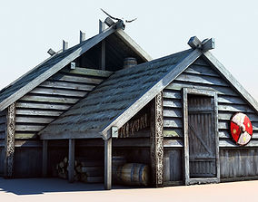 3D asset Viking House 2