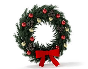 3D model Modern Christmas Wreath