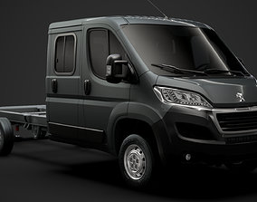 3D Peugeot Boxer Manager Chassis Truck Crew Cab 4035XL 1