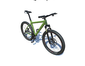 Mountain Bike with LOD 3D model