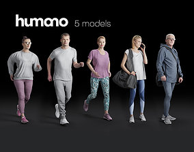 Humano 5-PACK - PEOPLE - SPORT JOGGING BIKING - 5x 3