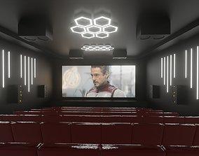 Theater - Home Cinema Room 3D model