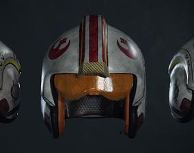 3D model X-wing rebel pilot helmet from Star Wars