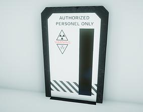 3D model Sci Fi Doors