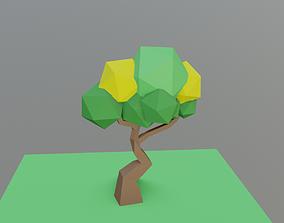 Low-poly simple Leaf Tree 3D model