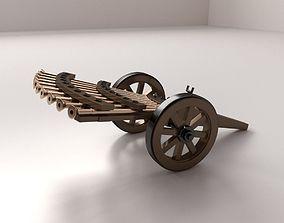 3D Da Vinci Machine Gun