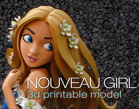 Nouveau Girl - 3D Printable Model