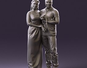 001050 man and woman of moddle age with cat 3D Print