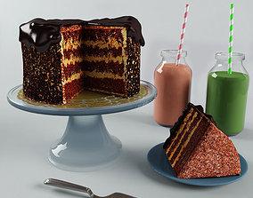 cake choco 3D