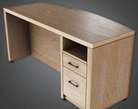 3D asset CLA - Teachers Desk - PBR Game Ready