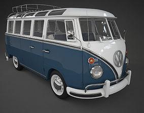 VW Samba T1 Bus 3D model