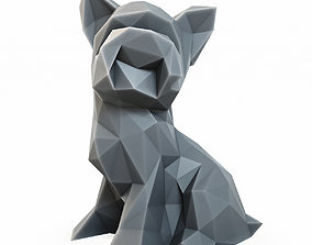 3D asset Yorkshire Terrier Low Poly 2