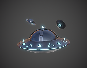 realtime Ufo 3D Model