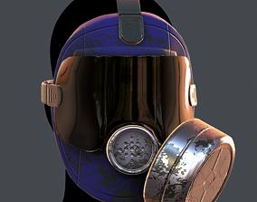 low-poly Gas mask helmet 3d model scifi Low-poly 2