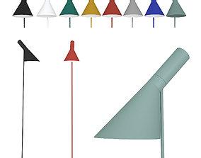 Floor lamp AJ Louis Poulsen by Arne Jacobsen 3D