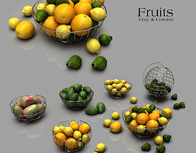 Fruits ingredients 3D model
