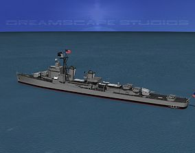 3D model Gearing Class Destroyer DDR-808 USS Dennis J
