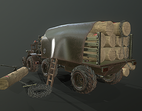 3D model Forest Tractor