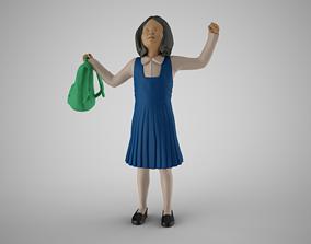 3D printable model Little School Girl Successful