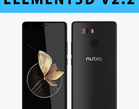 E3D - 3D model ZTE Nubia Z17 Black model