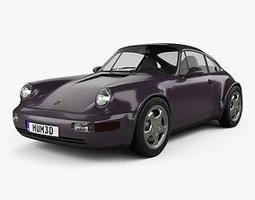 3D Porsche 911 Carrera 4 Coupe 964 Turbolook 30th 1