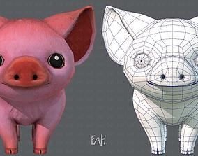 Pig cartoon 3D model