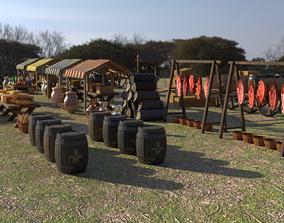 3D model fruit Medieval Market Asset Pack