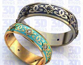 Wedding rings 598 3D
