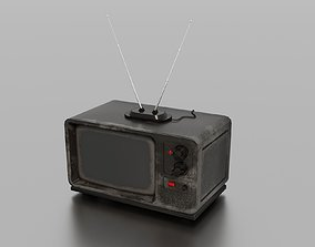 3D asset game-ready PBR Old TV