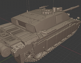 Challenger 2 Tanks 3D printable model