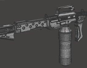M240 Flamethrower With Custom Wall 3D printable model 3