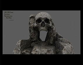 3D model skull cave 1